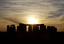 Stonehenge cloudy sunset