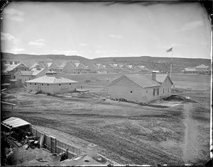 (144)Fort Wingate, New Mexico (shows the fort and houses), 1871 - 1878 - NARA - 517785.tif