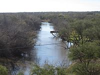 At higher level, the Nueces River in Cotulla, TX IMG 2475