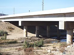 The historic Hassayampa Bridge. The bridge was built in 1929 and was modified and repaired in 1993. The bridge, which is described as a Concrete slab and girder, is located in the Old U.S. Highway Route 80 over the Hassayampa River between Salome Highway and 309 Ave. in the areas of Hassayampa and Arlington within the boundaries of the town of Buckeye, Az. The bridge was listed in the National Register of Historic Places in September 30, 1988, reference #88001658