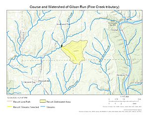 Course and Watershed of Gilson Run (Pine Creek tributary)