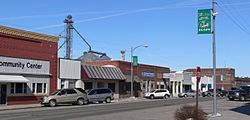 Downtown Elgin: west side of 2nd Street, looking north from Cedar Street