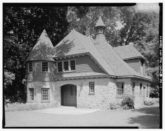 Keasbey and Mattison Company, Executive's House, Carriage House, 8 Lindenwold Avenue, Ambler, Montgomery County, PA HABS PA,46-AMB,10M-1
