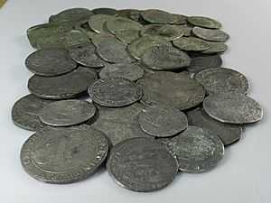 Middleham Hoard (YORYM-1995.109) Selection of coins from the side