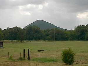 Pinnacle Mountain, Arkansas, seen from the Natural Steps