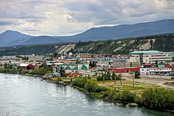 Downtown Whitehorse and Yukon River, June 2008
