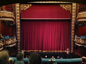 Harrogate Theatre pit and curtain