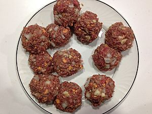 I'm 51 and have never made my own meatballs. Till tonight. Had some good ground beef from the TRU Meat Store. (15795383467)