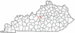 Location of Bardstown within Kentucky