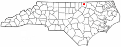 Location of Macon, North Carolina