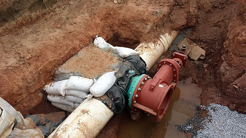 Tapping water line in Bentonville, AR