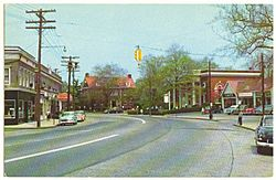 Fairfield Post Road 1956 Postcard