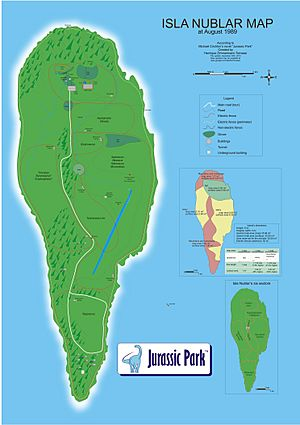 Isla Nublar map english