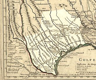 Map of Texas 1718