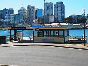 McMahons Point ferry wharf land side