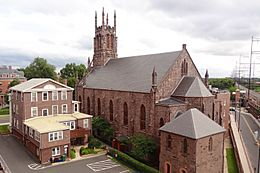 Saint Peter the Apostle Church - backyard, New Brunswick, NJ