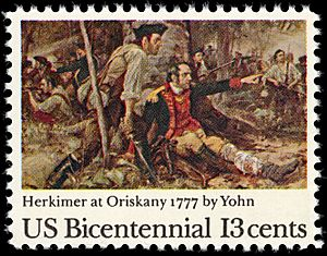 American Bicentennial - Battle of Oriskany - 13c 1977 issue U.S. stamp