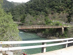 Iowa Hill bridges over the  North Fork of the American River