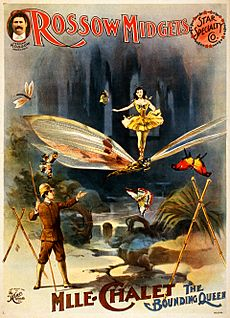 Rossow Midgets, Mlle. Chalet the bounding queen, performance poster, 1897