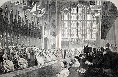 St George's Chapel, 10 March 1863