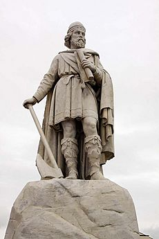 Statue of King Alfred in Wantage Market Square