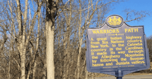 Warrior's Path HIstoric Marker @ Wyalusing Rocks, Wyalusing, PA