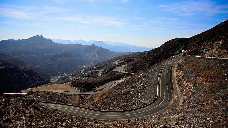 A view from the road up Jebel Jais, Ras Al Khaimah
