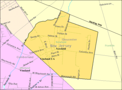 Census Bureau map of Newfield, New Jersey