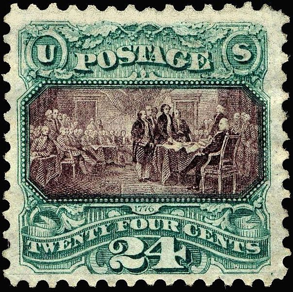 Declaration of Independence 24c 1869 issue