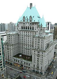 Present day Hotel Vancouver