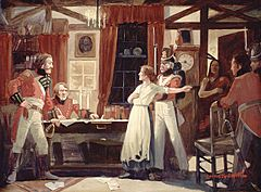 Laura Secord warns Fitzgibbons, 1813