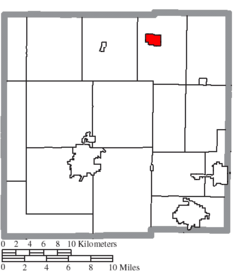 Location of New Washington in Crawford County