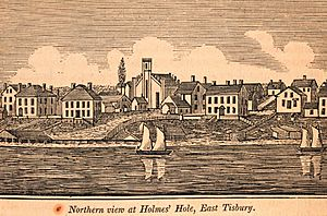 Northern view of Holmes Hole, East Tisbury