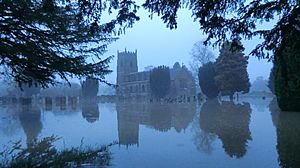 South Wingfield Church flooded