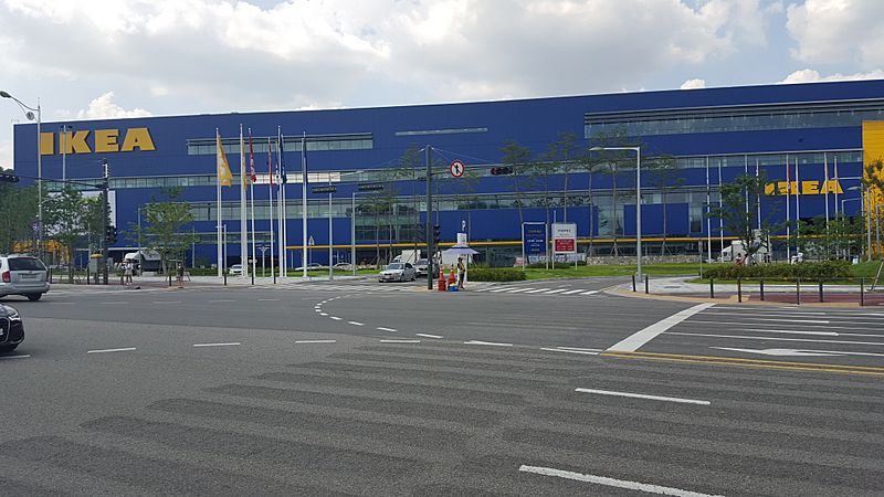 The world's largest IKEA near the KTX Gwangmyeong Station, Seoul Capital Area, South Korea