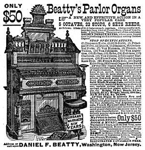 Beatty's Parlor Organ ad 1882