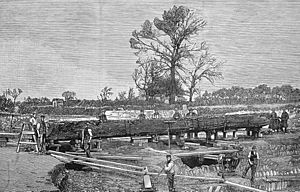Discovery of logboat in Brigg in 1886