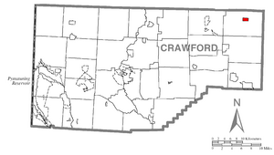 Location of Spartansburg in Crawford County