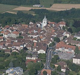 Aerial view of Cossonay