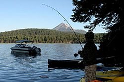 Fishing at Lake of the Woods, Oregon