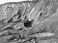 Hydraulic mining in Dutch Flat, California, between 1857 and 1870