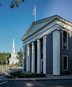 Sandwich Town Hall (1834) and Congregational Church (1848)