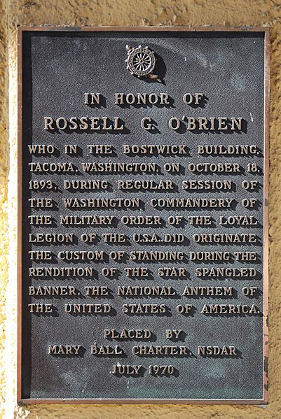 Star Spangled Banner Plaque