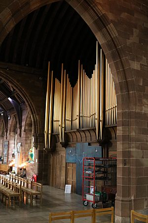 The organ, St Martin's in the Bull Ring