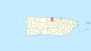 Location of Vega Baja in Puerto Rico