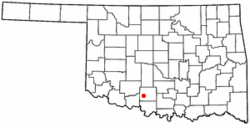 Location of Empire City, Oklahoma