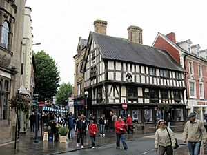 Oswestry - Historic buildings in town centre
