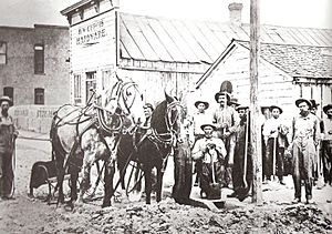 Plowing Main Street of Blackfoot