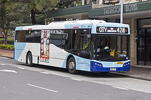 Transport NSW liveried (2601 ST), operated by Sydney Buses, Bustech VST bodied Scania K280UB on Loftus Street in Circular Quay (2)