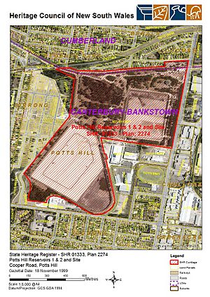1333 - Potts Hill Reservoirs 1 & 2 and Site - SHR Plan 2274 (5051434b100)